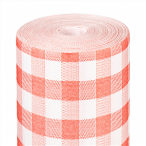 Nappe Like-Linen 25 m Vichy Rouge