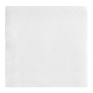 50 Serviettes Double-Point 30x40 Blanc