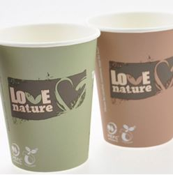 100 Gobelets carton Love Nature 18/20 cl